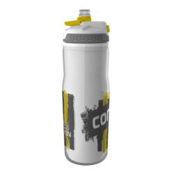 Бутыль для воды CONTIGO Devon Insulated с носиком легкосжимаемая бело-желтая 650 мл