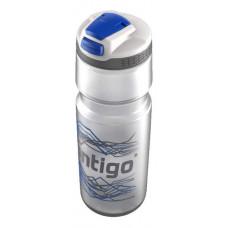 Бутыль для воды CONTIGO Devon с носиком легкосжимаемая серебристо-синяя 750 мл
