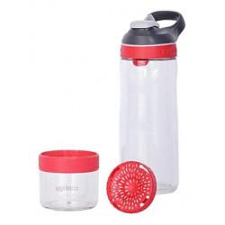 Бутылка для воды с автозакрывающимся клапаном для питья Cortland infuser розовый 720 мл