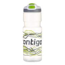 Бутыль для воды CONTIGO Devon с носиком легкосжимаемая серебристо-салатовая 750 мл