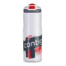 Бутыль для воды CONTIGO Devon Insulated с носиком легкосжимаемая бело-красная 650 мл