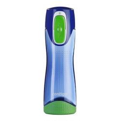Бутылка для воды с автозакрывающейся крышкой CONTIGO Swish синяя 500 мл