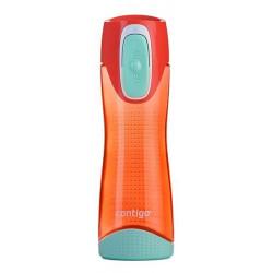 Бутылка для воды с автозакрывающейся крышкой CONTIGO Swish оранжевая 500 мл