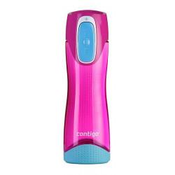 Бутылка для воды с автозакрывающейся крышкой CONTIGO Swish розовая 500 мл