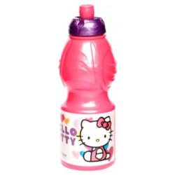 Бутылка пластиковая Stor Hello Kitty Сердечки спортивная, фигурная, 400 мл