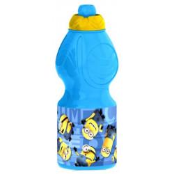 Бутылка пластиковая Stor Миньоны Правила спортивная, фигурная, 400 мл
