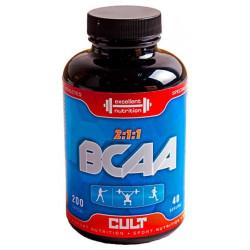CULT Sport Nutrition BCAA 200 капсул без вкуса