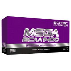 Scitec Nutrition Mega BCAA 1400 120 капсул без вкуса