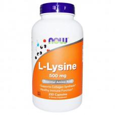 NOW Sports L-Lysine 250 капсул без вкуса