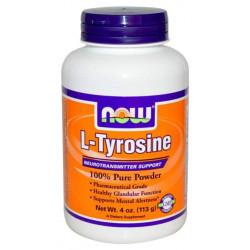 NOW Sports L-Tyrosine Powder 113 г без вкуса