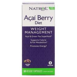 Антиоксидант Natrol AcaiBerry Diet 60 капс. натуральный