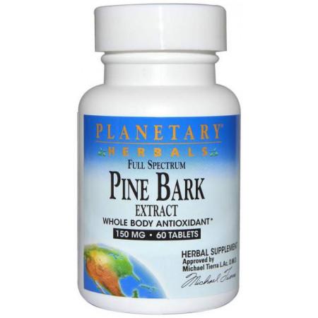Антиоксидант Planetary Herbals Pine Bark Extract 60 табл. натуральный