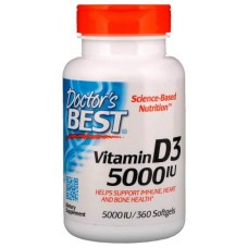 Витамин D Doctor's Best Best Vitamin D-3 5000 Ме 360 капсул