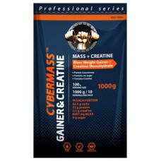 Гейнер CyberMass Mass + Creatine 1000 г Chocolate