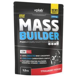 Гейнер VPLab Mass Builder 1200 г Strawberry Yoghurt