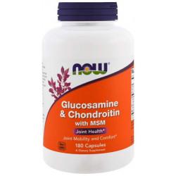 Глюкозамин хондроитин MSM NOW Joint Support 180 капс.
