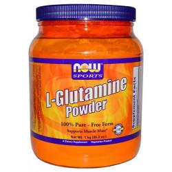 NOW Sports L-Glutamine Powder 1000 г без вкуса