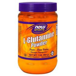NOW Sports L-Glutamine Powder 454 г без вкуса