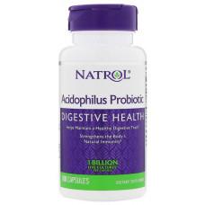 Добавка для пищеварения Natrol Acidophilus 100 капс. натуральный