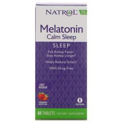 Добавка для сна Natrol Calm Sleep 60 табл. клубника