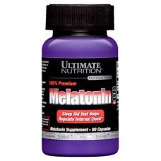 Добавка для сна Ultimate Nutrition Melatonin 100% Premium 60 капс. натуральный