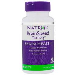 Добавка для памяти Natrol BrainSpeed Memory 60 табл. натуральный