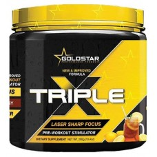 Предтренировочный комплекс GoldStar Triple X 300 г лимонад