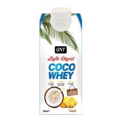Белковый коктейль QNT Coco Whey Light Digest 330 мл ананас, кокос