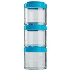 Банка Blender Bottle GoStak 3 кам. 100 мл голубой