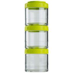 Банка Blender Bottle GoStak 3 кам. 100 мл зеленый