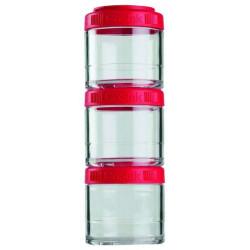 Банка Blender Bottle GoStak 3 кам. 100 мл красный