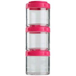 Банка Blender Bottle GoStak 3 кам. 100 мл малиновый