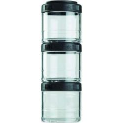 Банка Blender Bottle GoStak 3 кам. 100 мл черный
