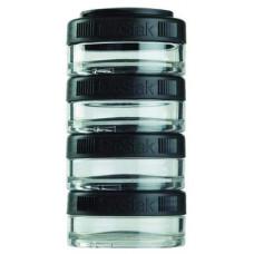 Банка Blender Bottle GoStak 4 кам. 40 мл черный