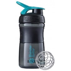 Шейкер Blender Bottle SportMixer 1 кам. 591 мл черный, морской голубой