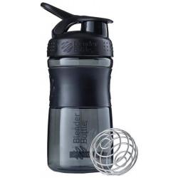 Шейкер Blender Bottle SportMixer 1 кам. 591 мл черный, черный