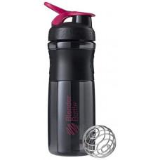 Шейкер Blender Bottle SportMixer 1 кам. 828 мл черный, малиновый
