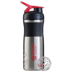 Шейкер Blender Bottle SportMixer Stainless 1 кам. 828 мл черный, красный