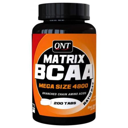 QNT BCAA Matrix 4800 200 таблеток без вкуса
