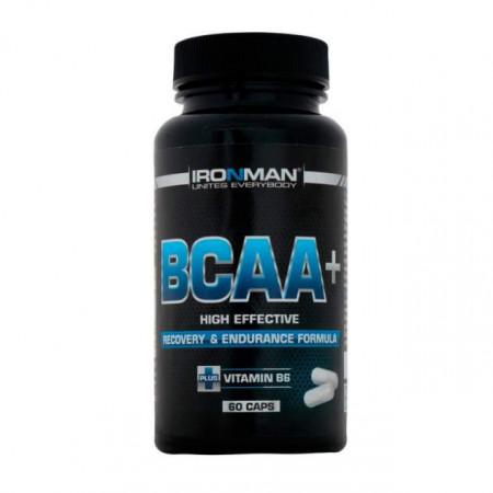 Ironman BCAA+ 60 капсул без вкуса