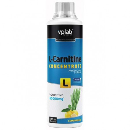 VPLab L-Carnitine Concentrate, 500 мл, Lemongrass