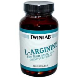 Twinlab L-Arginine/L-Ornithine 100 капсул без вкуса