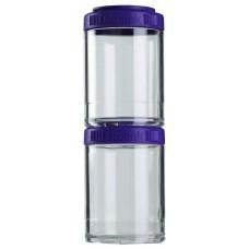 Таблетница Blender Bottle GoStak 2 кам. 150 мл прозрачный, фиолетовый