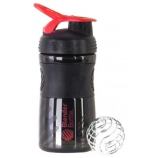 Шейкер спортивный Blender Bottle SportMixer 591 мл Черный, Красный