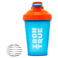 Шейкер IronTrue ITS916 1 кам. 500 мл оранжевый, голубой