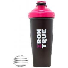 Шейкер IronTrue ITS916 1 кам. 700 мл розовый, черный