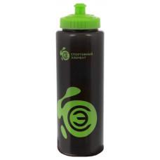Бутылка Спортивный элемент Нефрит 1000 мл зеленый, черный
