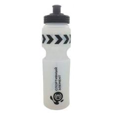 Бутылка Спортивный элемент Халцедон 1 кам. 500 мл черный, белый