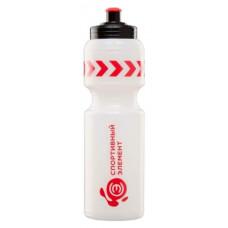 Бутылка Спортивный элемент Кварц 1 кам. 800 мл белый, красный, черный