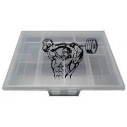 Таблетница Спортивный элемент Pb-1 7 кам. прозрачный